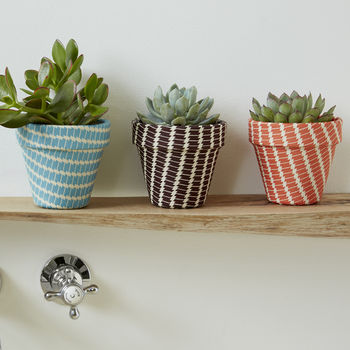 Fun Fabric Covered Indoor Planter Small