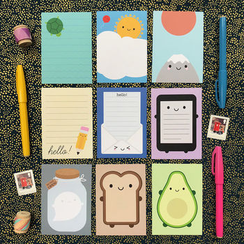 Kawaii Mini Memo Sheets Set