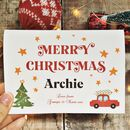 Personalised Children's Star Christmas Card