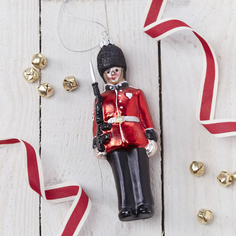 glass soldier christmas tree decoration - Christmas Soldier Decorations