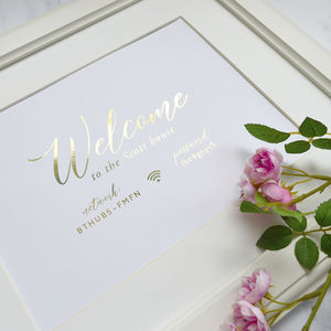 Welcome To Our Home Foiled Print
