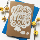 Thinking Of You Linocut Sympathy Card