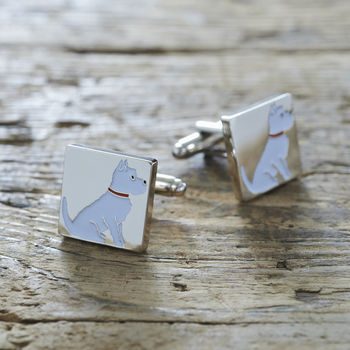 Westie / West Highland Terrier Dog Cufflinks