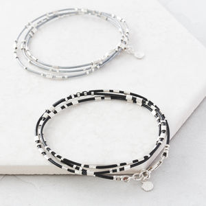 Personalised Ladies Morse Code Leather Wrap Bracelet - bridesmaid gifts