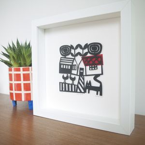 Love Birds Limited Edition Papercut