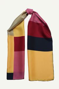 Geometric Silk Scarf - scarves