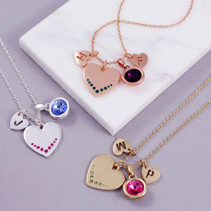 Design Your Own Heart Necklace - more