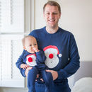 Dad And Baby Or Child Christmas Pyjamas Santa Print