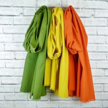 Oversized Scarf Olive, Mustard, Burnt Orange