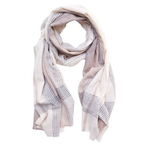Somerset Check Wool Scarf