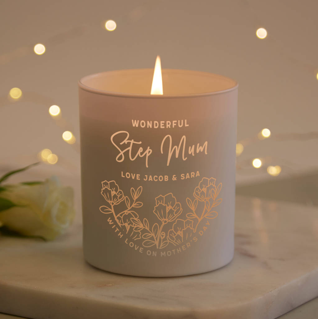 step mum christmas gift scented candle by norma&dorothy ...