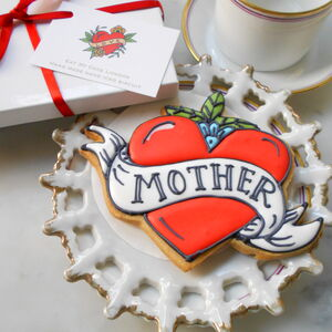 Mother's Day Tattoo Heart Biscuit