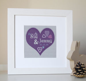 Personalised Valentines,Wedding And Anniversary Prints - typography