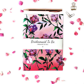 Rose Blush Bridesmaid To Be A5 Notebook