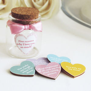 Personalised Love Tokens In Bottle
