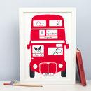 London Bus Dog Print