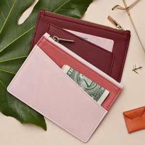 Luxury Leather Coin Purse And Card Wallet - accessories gifts for friends