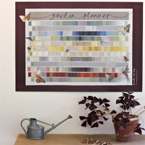 Garden Wall Planner Planting Calendar - tools & equipment