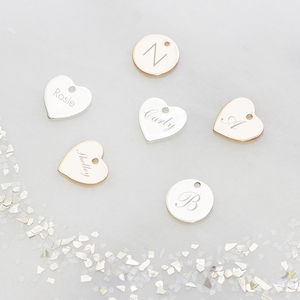 Add On A Personalised Heart Or Disc Charm