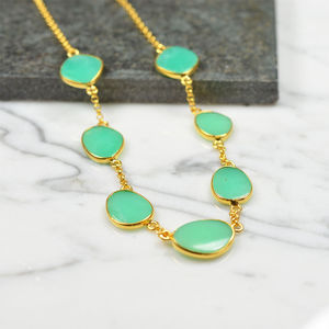 Talitha Pebble Necklace Chrysoprase - necklaces & pendants