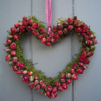Rosebud Hanging Heart Decoration