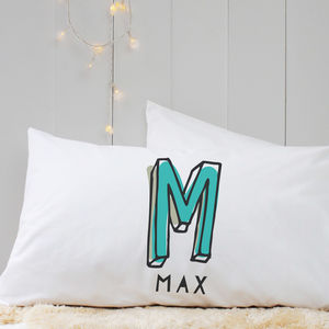 Personalised 'Initial' Pillow Case - children's room