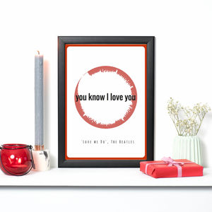 Personalised Love Music Soundscape Print - music