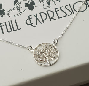 Brides And Brides Maid Silver Tree Of Life Pendant