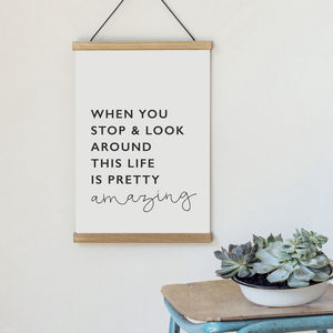 Life Is Amazing Poster - motivational prints