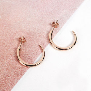 Large Tusk Hoops - earrings