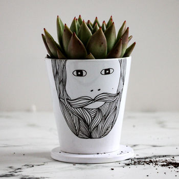 Beardy Man Plant Pot