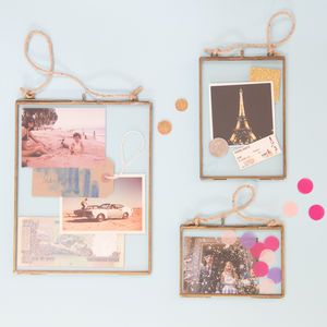 Brass Hanging Picture Frame - home accessories
