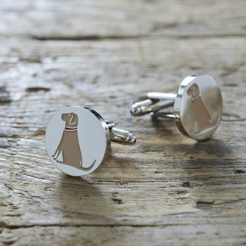 Yellow Labrador Cufflinks