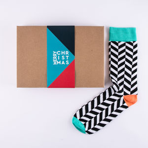 Christmas Gift Sock Box For Men