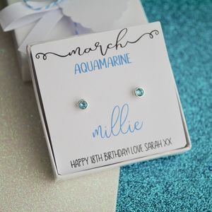 Silver Birthstone Earrings - children's accessories