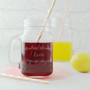 Personalised Glass Mason Jar - tableware