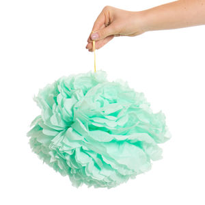 Pack Of Three Mint Green Pom Poms