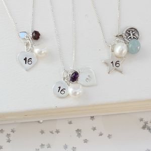 Personalised Celebrate 16th Birthday Necklace - 16th birthday gifts