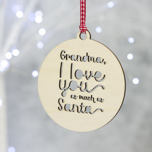 Personalised Christmas Bauble For Grandparents