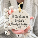 1st Christmas As Mummy And Daddy Metallic Decoration