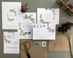 Botanical Bloom Wedding Invitation Set - new in wedding styling