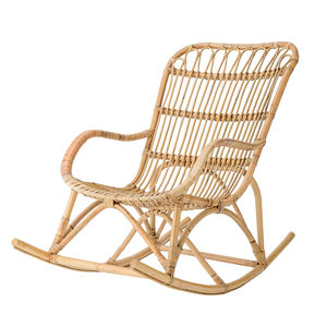 Rattan Rocking Chair In Natural - living room