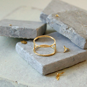 Caged Gold Ring - rings
