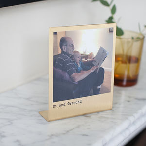 Personalised Solid Brass Photo Print - best gifts for him