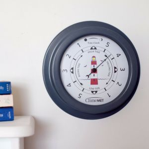 Personalised Red Lighthouse Tide Clock - clocks