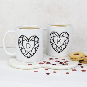 Jewelled Heart Personalised Ceramic Mug Set - view all new