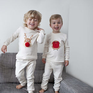 Organic Cotton Christmas Baby Pyjamas - babygrows