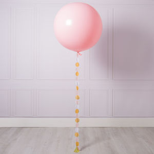 Baby Pink Giant Circle Tail Balloon