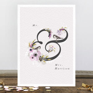 Personalised Mr And Mrs Greetings Card