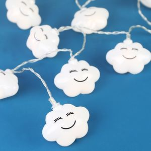 LED Cloud String Lights - children's room